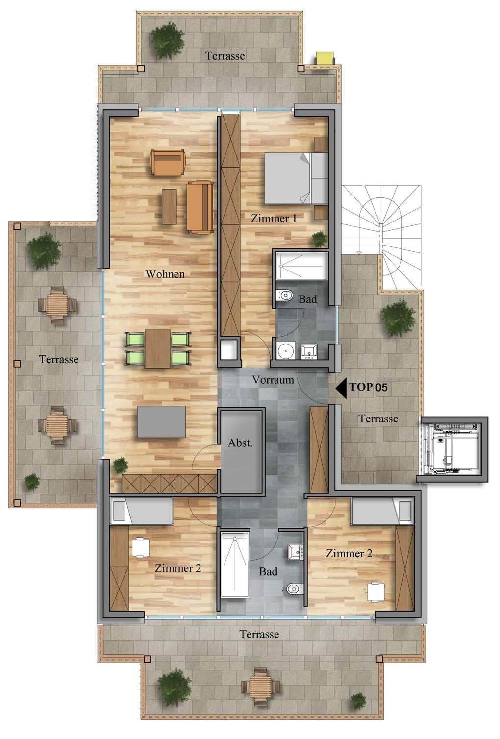 Plan Penthouse Top 5