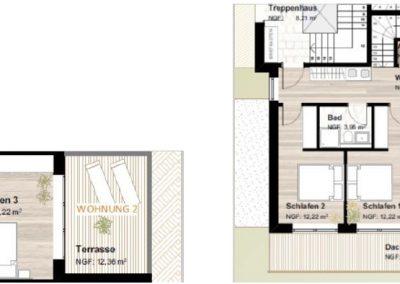 Plan Wohnung Top 2