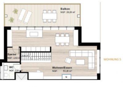 Plan Wohnung Top 5 DG